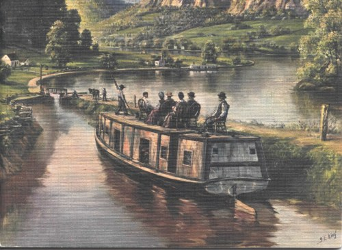 Packet Boat on the Canal  Painting by S.E. King Used by permission