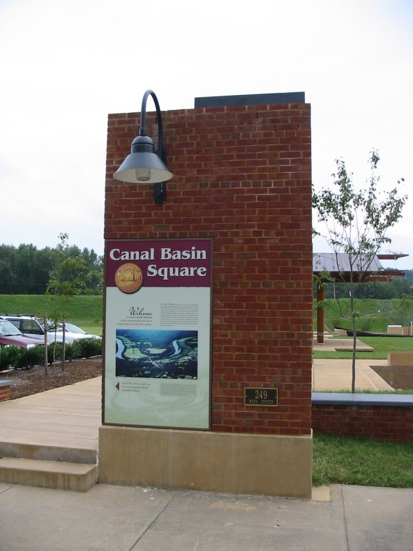 Canal Basin Square Entry Pylon and Sign